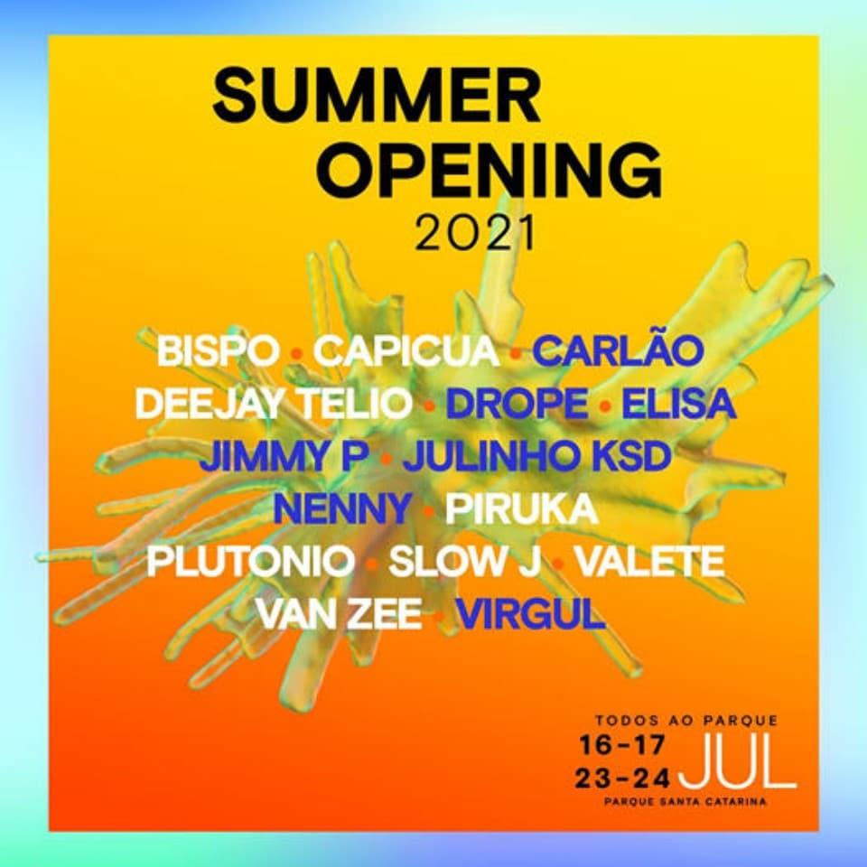 Summer Opening cartaz 2021