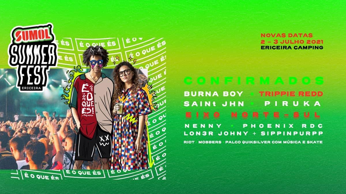 Sumol Summer Fest cartaz 2021
